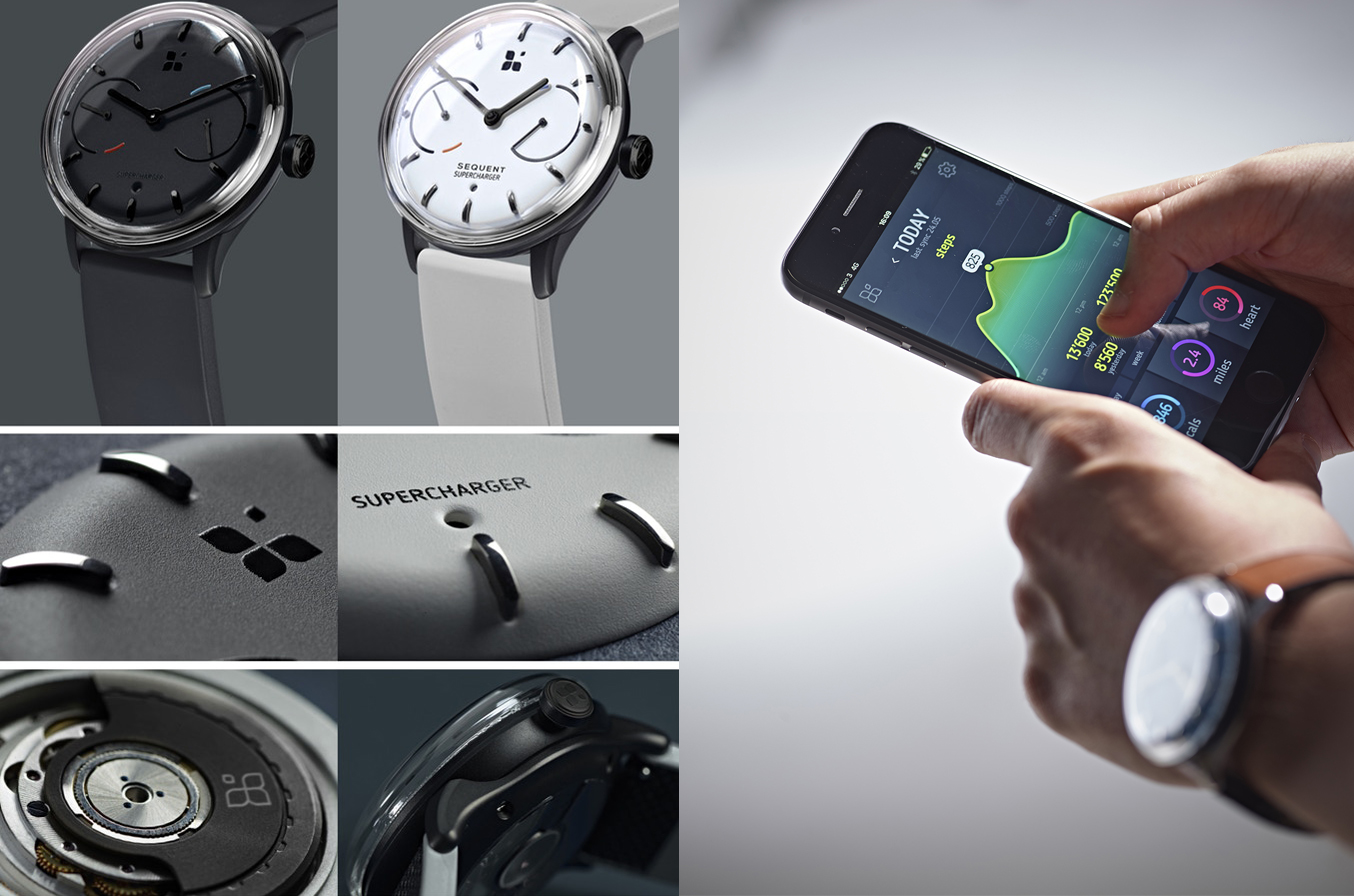 SEQUENT Watch: Supercharger – Smartwatch z rotorem? Tak, pierwszy hybrydowy smartwatch z mechanizmem typu kinetic!