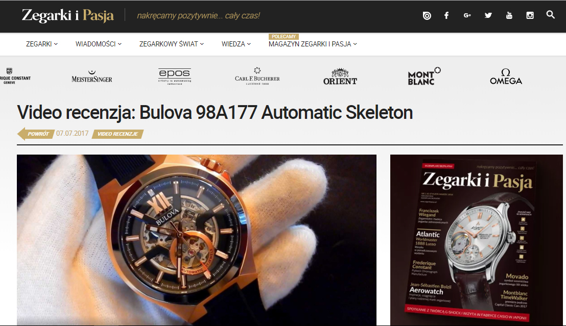 Bulova 98A177 Automatic Skeleton