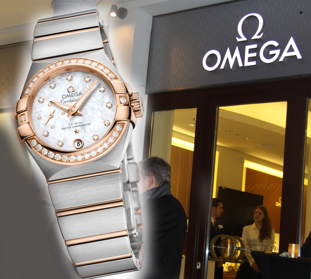 Omega Constellation Petite Seconde. Wieczór w butiku Omega