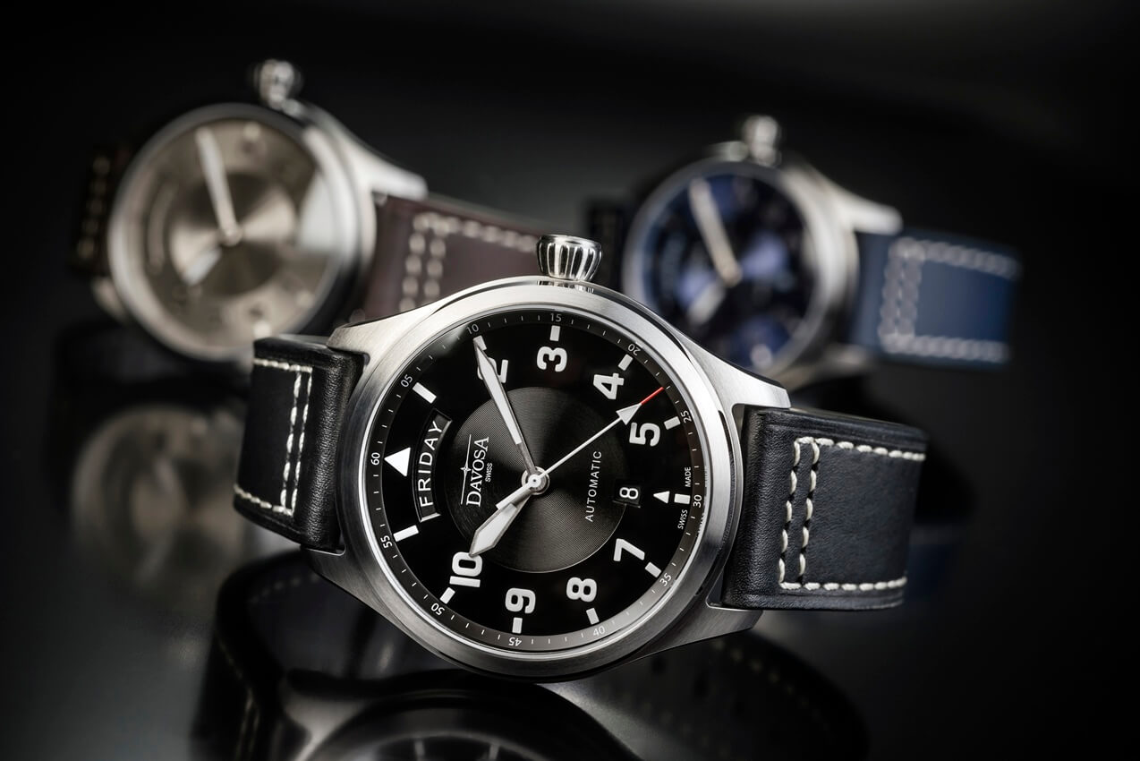 DAVOSA Newton Pilot Day Date Automatic