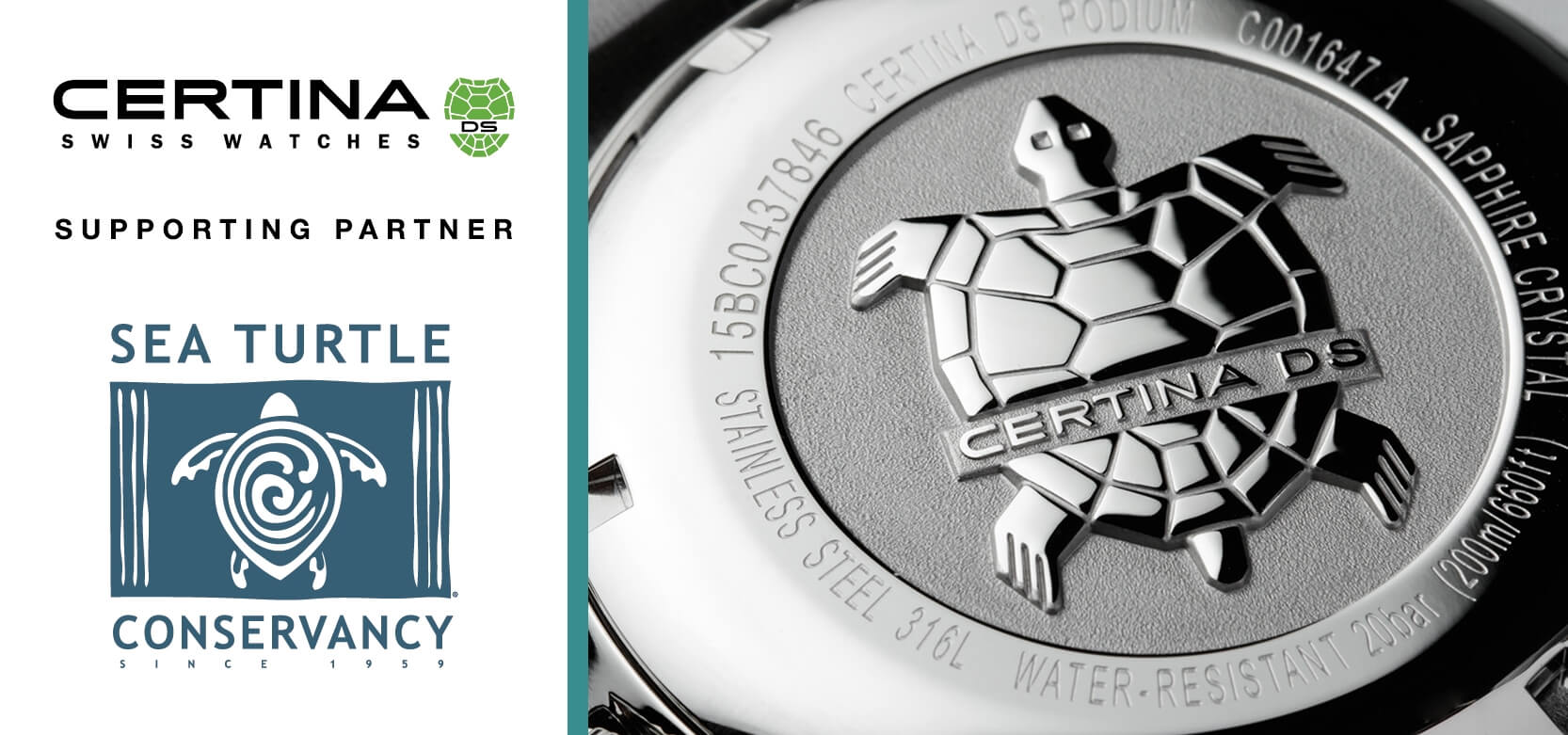 CERTINA DS Action Powermatic 80 Diver Sea Turtle Conservancy