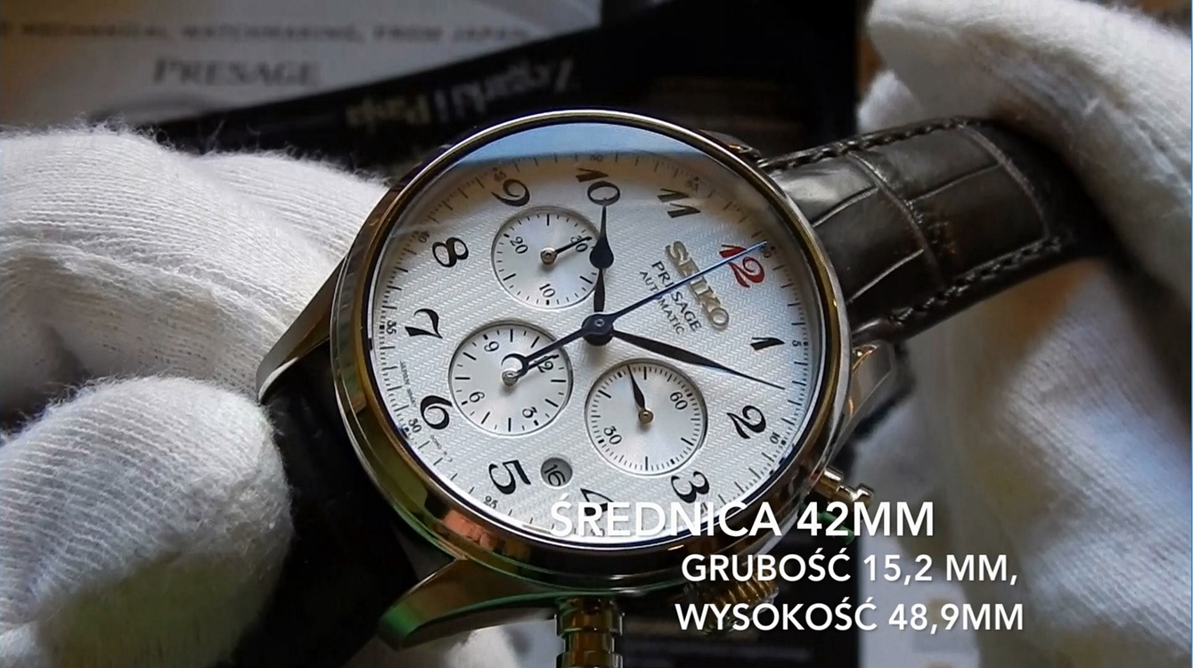 Video recenzja: SEIKO Presage Automatic Chronograph Special Edition (SRQ025J)