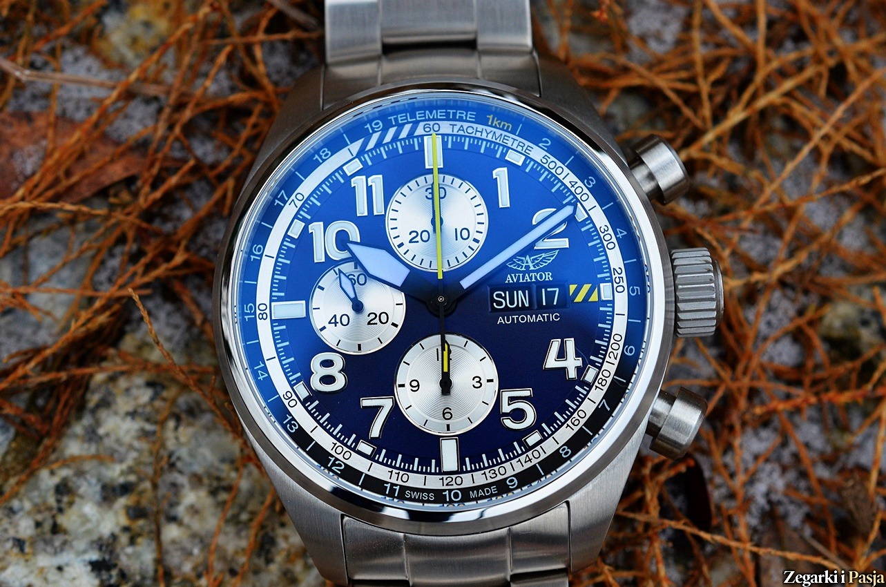 Recenzja: AVIATOR Swiss Made Airacobra P45 Chrono Auto