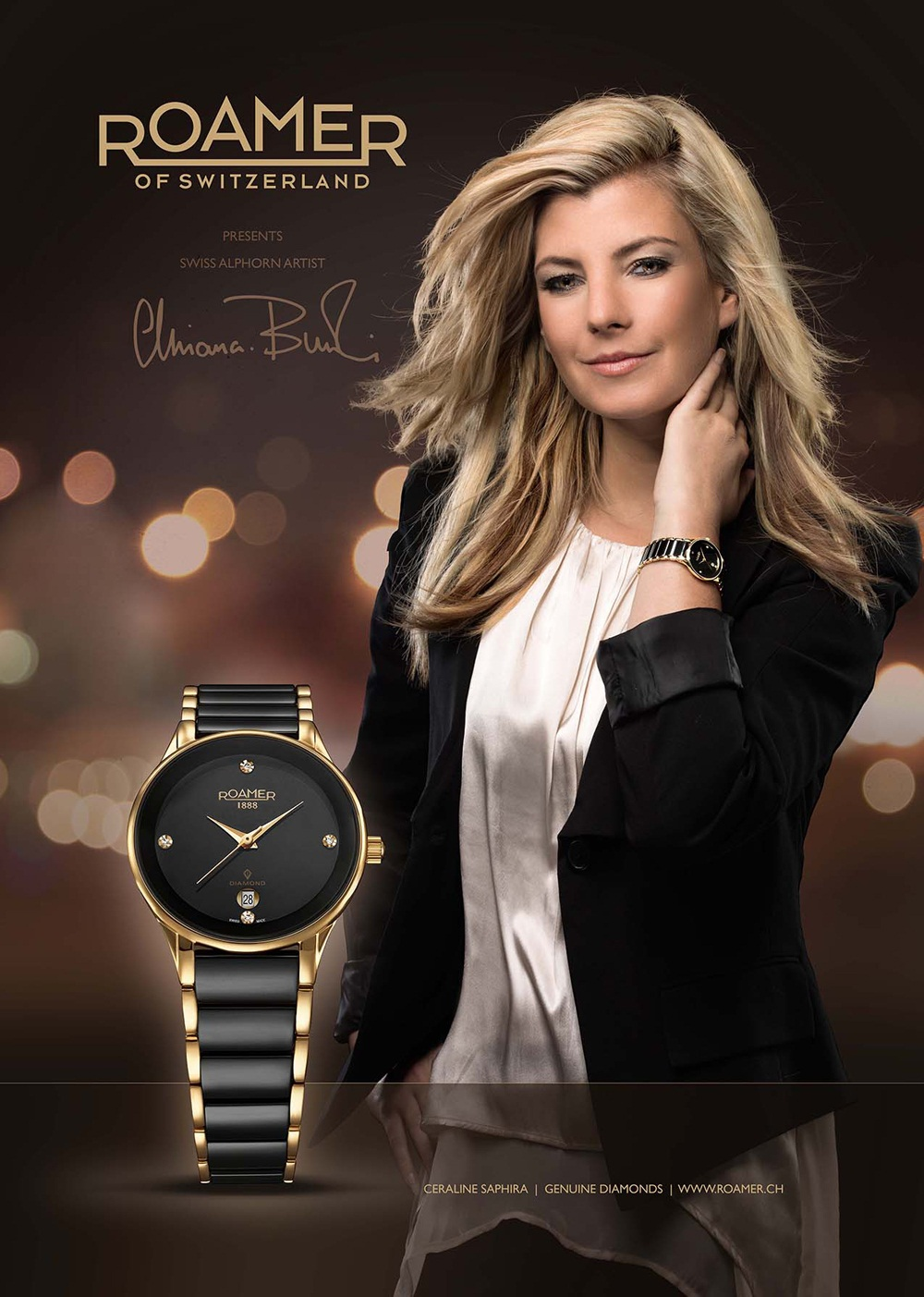 Roamer of Switzerland presents Brand Ambassador ELIANA BURKI