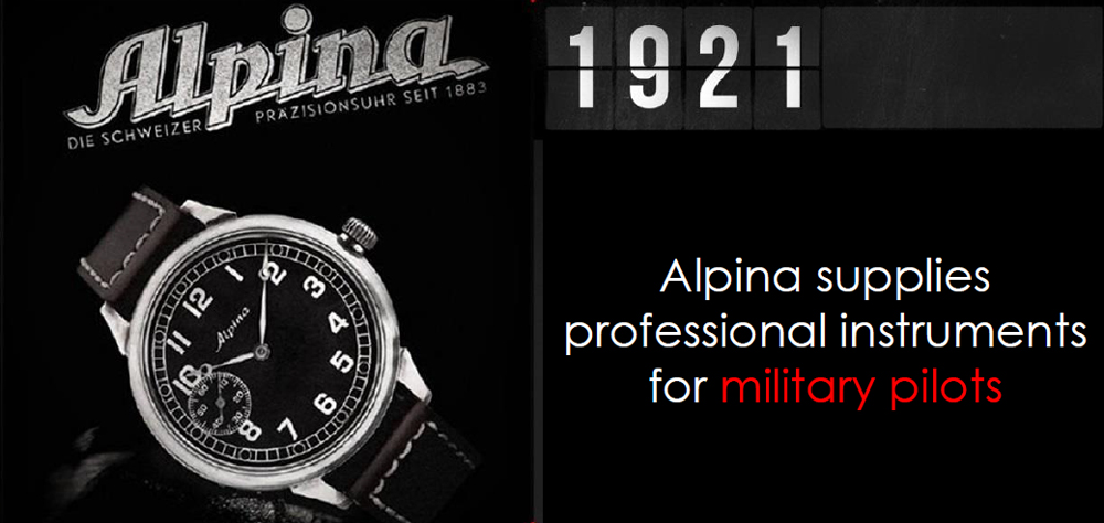 Alpina supplies professional instruments for military pilots