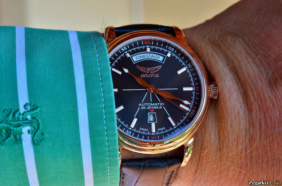 AVIATOR Swiss Made model Douglas Day Date - recenzja