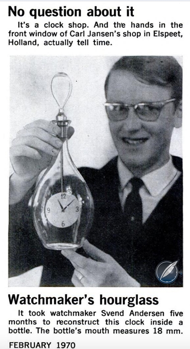 Svend Andersen Bottle Clock