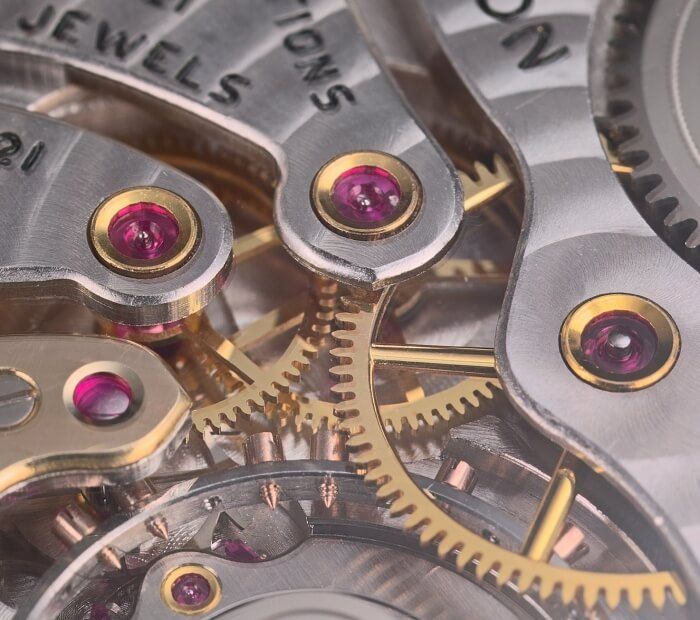 1704 - First method for fabricating jewel bearings for mechanical watches and clocks