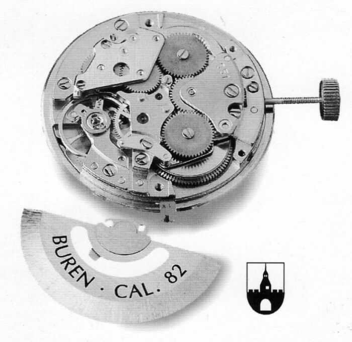 1967 - Drive spring with two barrels arrangement for watch movement