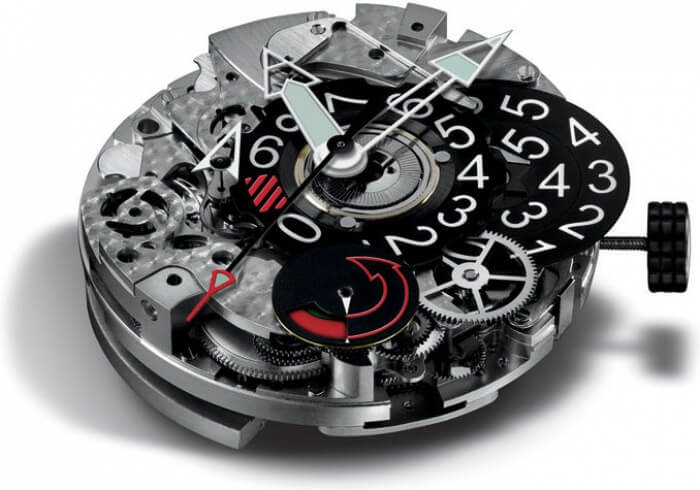 2004 - Chronograph with a stop display based on a combined mechanical and digital design