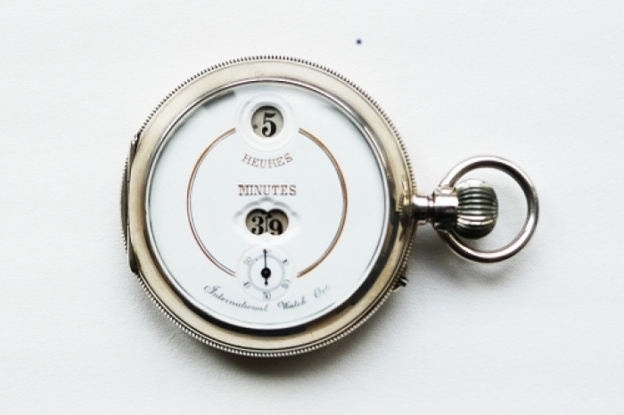 1883 - Pallweber's pocked watch with digital display