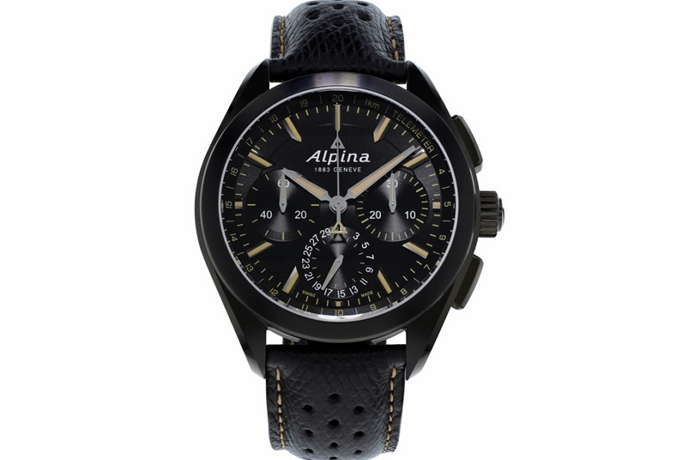 "ALPINA ""Full Black"" Alpiner 4 Manufacture Flyback Chronograph"