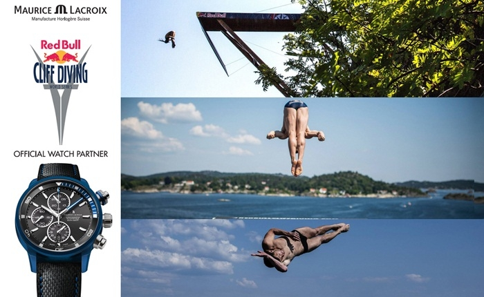 Cliff Diving. Red Bull i Maurice Lacroix