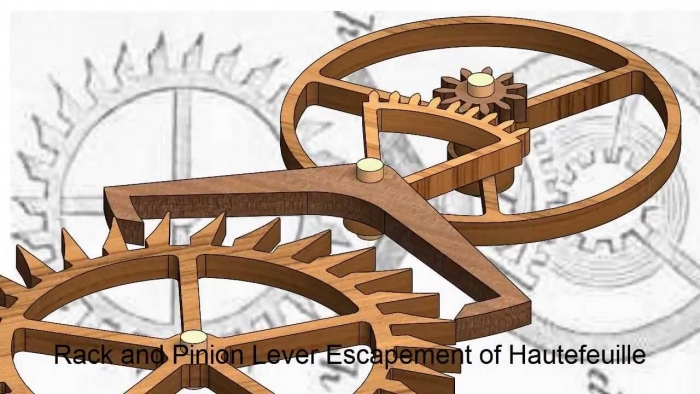 1722 - The rack lever escapement