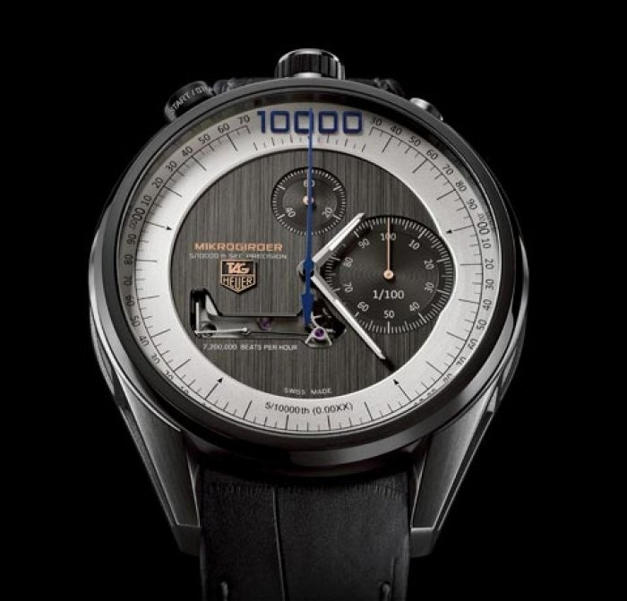 2012 - Wristwatch chronograph measuring event time up to 5/10 000 seconds
