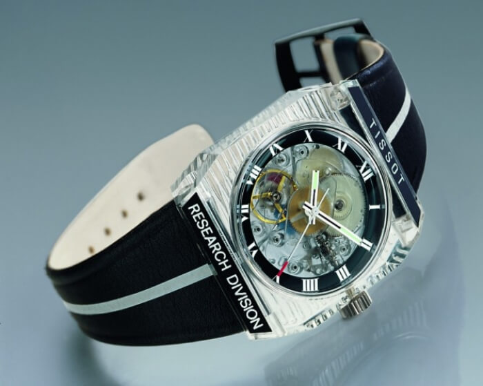 1971 - First mechanical watch in plastic