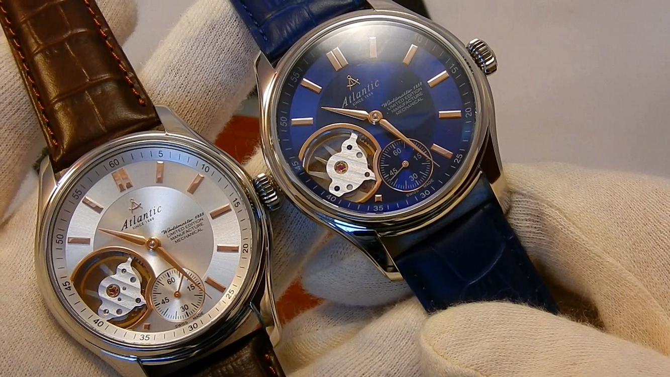 Video recenzja: Atlantic Worldmaster 1888 Lusso Manufacture Mechanical Open Heart Limited Edition