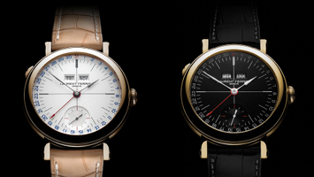Laurent Ferrier - Galet Annual Calendar School Piece Opaline Black & White