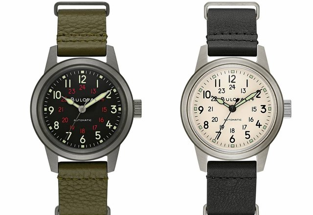 BULOVA Military Hack Watch Automatic - wojak w cywilu